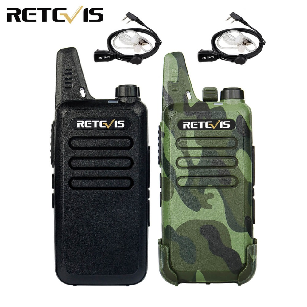 2 pz Mini Walkie Talkie Retevis RT22 2 W UHF 400-470 MHz CTCSS/DCS VOX Scansione TOT Squelch Two Way Radio Ham Transceiver Hf A9121A