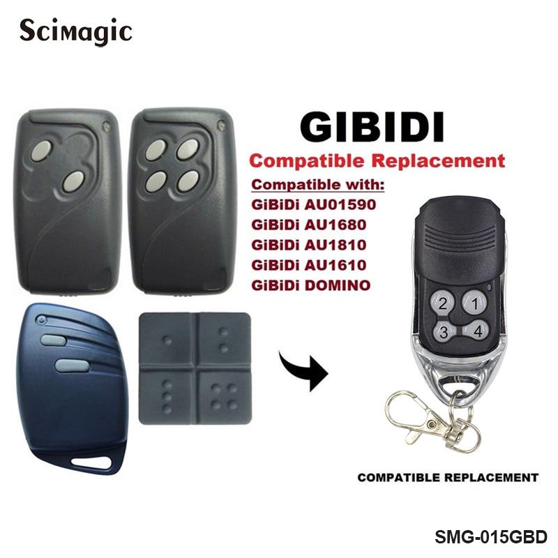 GIBIDI Garage Door Remote Control 433mhz Rolling Code GIBIDI AU1600 AU1610 AU1680 AU1810 DOMINO Garage Command 433.92mhz Opener
