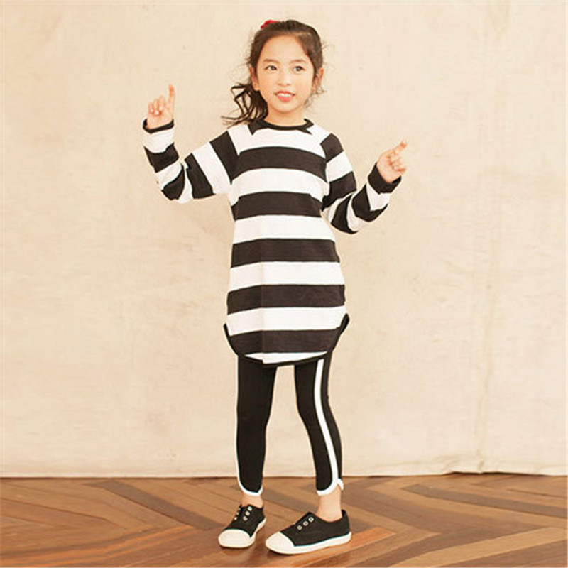 AROMIN Baby Girls Clothing long sleeve striped top+Pant Children Spring girl Autumn Kids 2pcs Sets Sport Set Clothes Suits 2017 brand girls print striped clothes set for autumn spring girls long sleeve top pants girls school hip hop sport clothing set