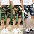 2016 новый летний стиль casual военные шорты мужчин, вне поездов камуфляж шорты оснастки комбинезоны пятый поезд шорты 8