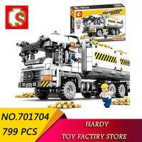 Senbao 701704 799 PCS Technology Series Engineering Earthmoving Truck Children Assemble Pellet Toy Building Blocks