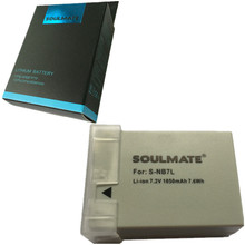 SOULMATE NB-7L lithium batteries pack NB 7L Digital Digicam Battery NB7L For Canon PowerShot G10 G11 G12 SX30
