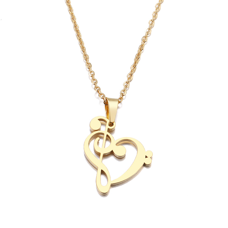 ibobi Stainless Steel Necklace Women Jewelry Music Symbol Heart Trendy Necklaces Pendants Donot Fade Valentine's Day Gift (1)