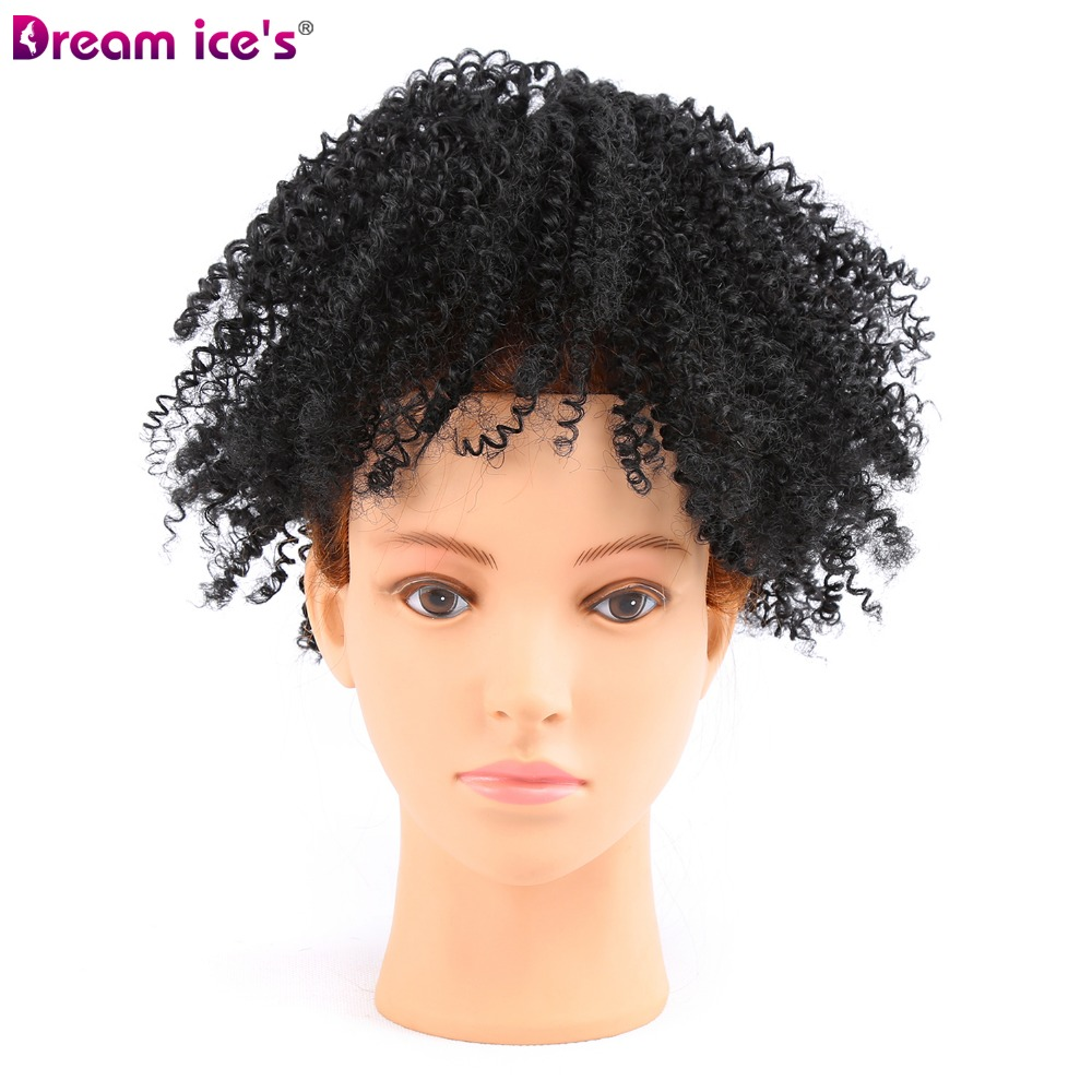 Afro Puff Ponytail Extensions para mujeres negras rizado pelo rizado - Cabello sintético