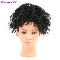 Afro Puff Queue de Cheval Extensions pour les Femmes Noires Kinky Bouclés Cordon Cheveux Queue de Cheval Postiches Clip en Queue de Cheval