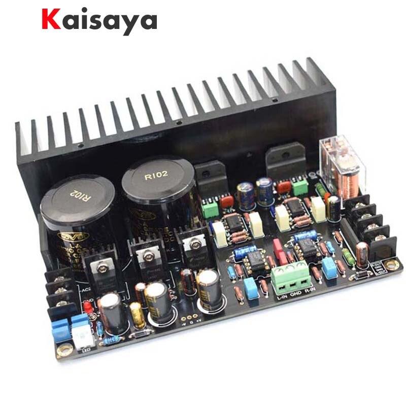 NOUVEAU LM3886 Plein DC servo Redux Immersion Or Processus 68 W + 68 W 5534 indépendant op amp amplificateur fini conseil + radiateur E5-001