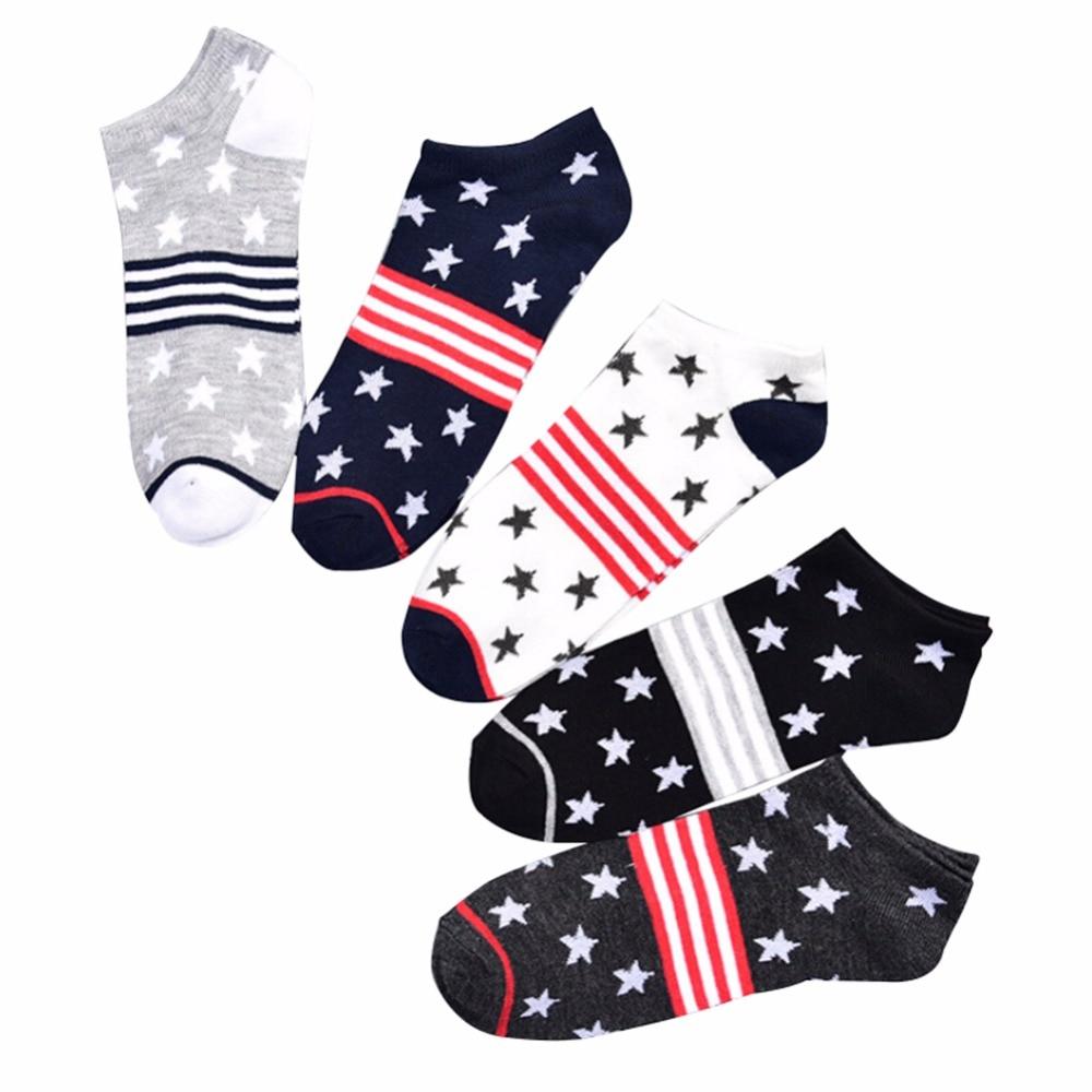 Men s Star Striped SocksAutumn and Winter casual stealth boat socks male Korean version of comfortable cotton socks wholesale