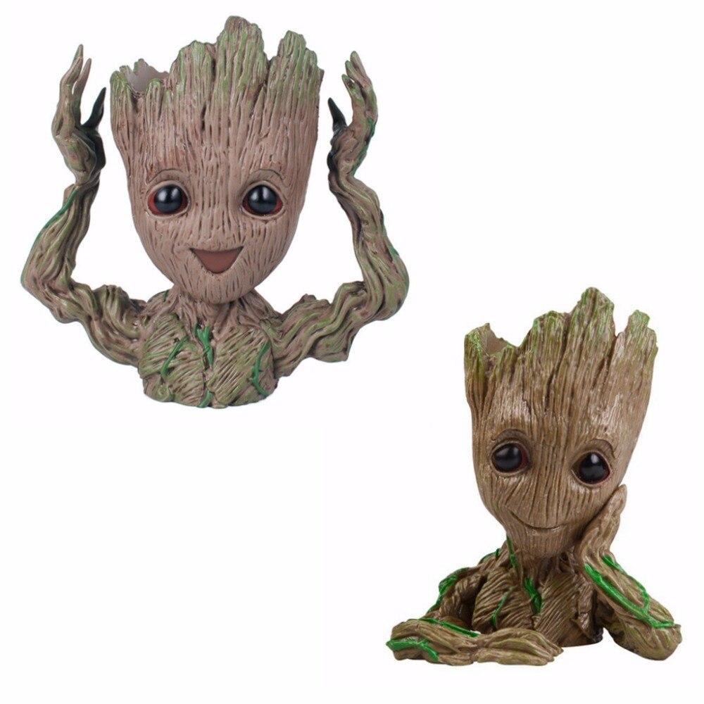 15 CM Baby Tree Man Guardians Of The Galaxy Flowerpot Action Figures Cute Model Toy Pen Pot Tree Man Head Model Kids Hobbies