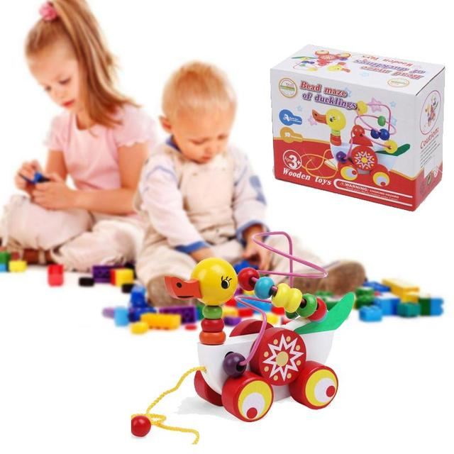 Duckling Trailer Toy Baby Wooden Puzzle Toys Children Educational - 9-month-old-baby-toys