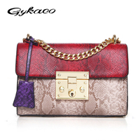 Gykaeo Fashion Women Messenger Bags Socialite Serpentine Evening Clutch Bag Ladies Chains Shoulder Bag Bolsa Feminina