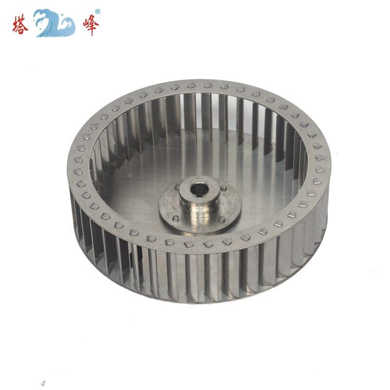 198mm diameter 52mm height 14mm shaft all 304 stainless steel impeller wheel balde anti-corrosion steam proof