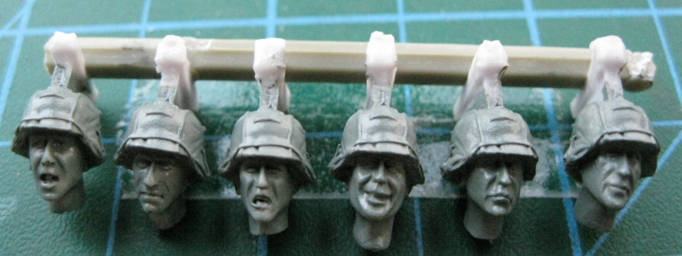 1:35   WWII British Troops Head (6 Figures)05