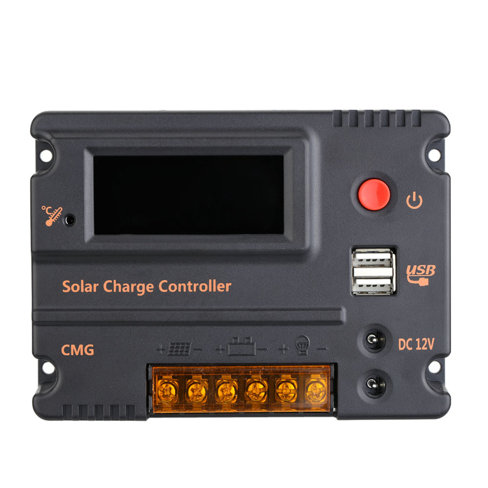 20a Cmg Solar Charge Controller Lcd Display Panel Battery Windshield Wiper Switch Further Circuit 10a 12v 24v Regulador Regulator Overload Protection Temperature Compensation