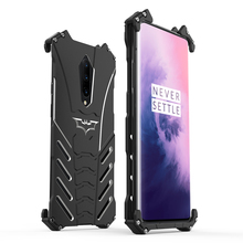 R-JUST Luxury Aluminum The Bat Metal Phone Case For Oneplus 7 oneplus 7Pro Back Cover Batman Hard Cover For 1+7 1+7 Pro
