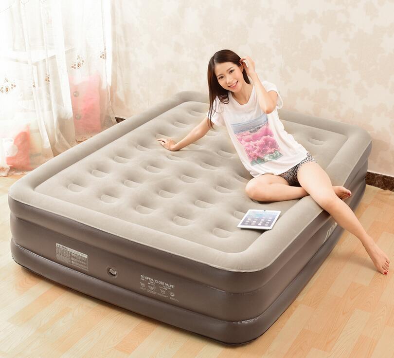 Due persone molto grande e largo divani letto aria gonfiabile, veloce gonfiato comfort adulti a pelo biancheria da letto