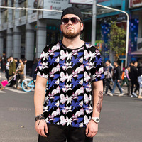 Summer new Large size men's Short sleeved T shirt Korean men and women to spend more sweater Silk silk Quick drying clothing 6XL