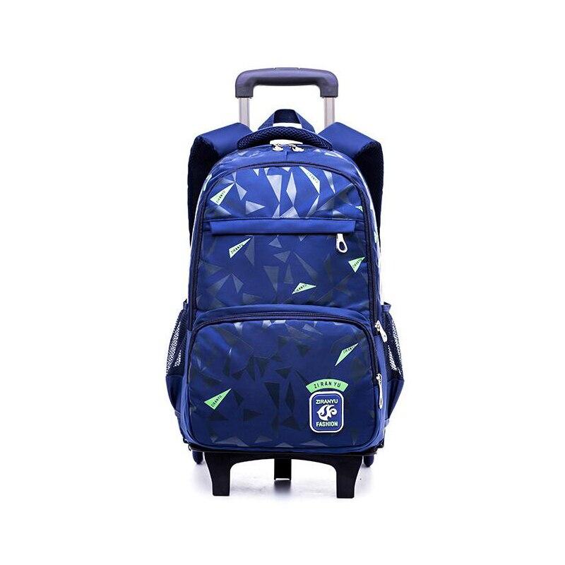 2019 enfants Trolley école sac à dos garçon sacs d'école enfants 3 roues voyage bagages sac à roulettes école sacs à dos bagages