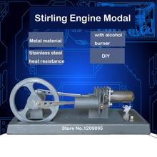 Stirlingi mootori mudel laste DIY füüsika õpetamise mudel tasuta saatmine
