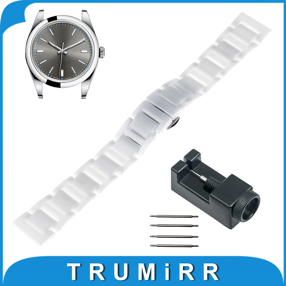 18mm 20mm Full Ceramic Watchband for Rolex Watch Band Wrist Strap Replacement Link Bracelet + Upgraded Tool + Pin краска фасадная в д aura expo основа tr 9л