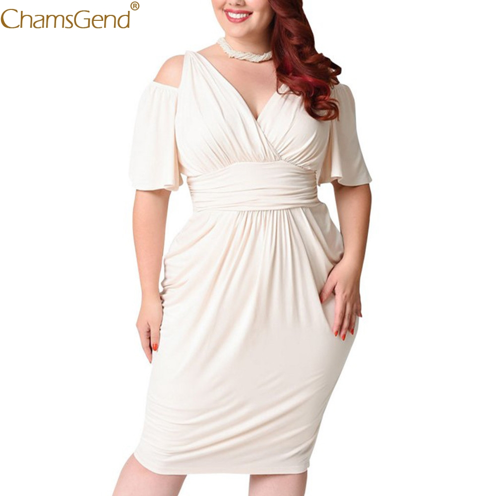 Womens  V-Neck 2019 women plus size dress party floral chiffon plus size dress maxi Strapless Sexy Solid Casual Straight Mar