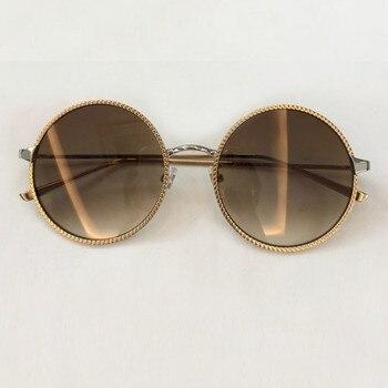 71536ef068e8a Mulheres marca De Designer Óculos Pequenos e Redondos 2019 Moda Liga Quadro  Shades UV400 Oculos de sol Feminino com Caixa de Proteção