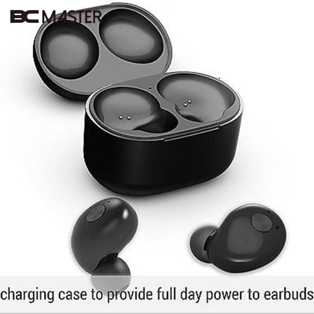 BCMaster True Wireless Bluetooth 4.2 Headset Stereo Earphone Double Twins  Earbuds In Ear Cordless headphone with Charge dock portable smart mini wireless bluetooth twins stereo mini double in ear headset earphone earbuds