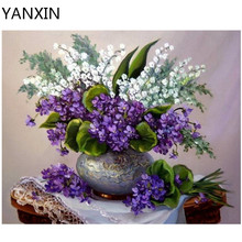 YANXIN DIY Frame Painting By Numbers Oil Paint Wall Art Pictures Decor For Home Decoration 968(China)