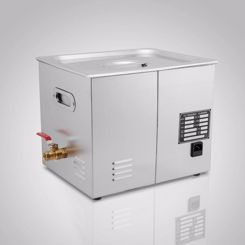 Nettoyeur à ultrasons haute efficacité 10L 490 W nettoyage à long trou numérique pieds antidérapants avec grande minuterie numérique