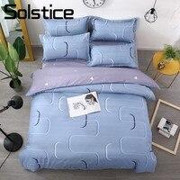 Solstice Home Textile Sport Vigor Blue Bedding Sets Duvet Cover Pillowcase Bed Sheet Boys Kid Teens Bedlinen Couple Double Queen