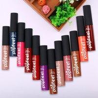 12Pcs Set POPFEEL Matte Lip Gloss Long Lasting Lipstick Lipstick Fashion