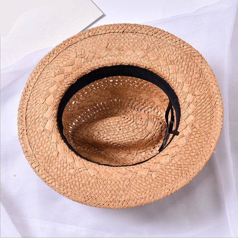 e4e4daecf3f7e ... Ymsaid Men Women Handmade Fedora Panama Hats Fashion Hollow Beach Sun  Hat British Style Jazz Cap Leather Buckle Spring Summer. -52%. Click to  enlarge