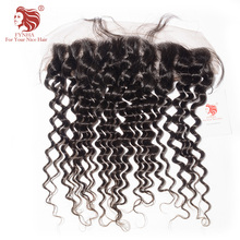[FYNHA]Lace Frontal Closure Brazilian Deep Wave Virgin Hair 13*4 Swiss Lace 100% Human Hair Free Shipping