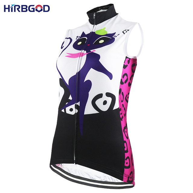 HIRBGOD Stylish Cat Womens Sleeveless Cycling Jersey Cute Summer Mountain  Road Bicycle Bike Cycling Vest Clothing Shirts-NR229 0f7ae7f83