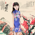 Newest Flower Birds Children's clothes  Sleeveless Summer Girl Dress   Cotton  Children's Clothing Kid's Qipao Dress