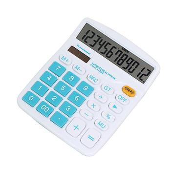 12 Digit Calculator Large Display Solar Power Battery Home Office School Tool Dual Power Supply Office & School Supplies
