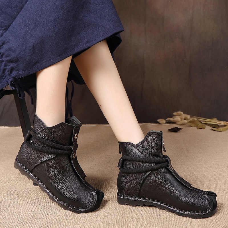 Xiuteng Yeni Hakiki Deri Yüksek Kaliteli yarım çizmeler Moda bayan Botları Yeni Kısa Çizme Kış Mor Gri Daireler Çizmeler Kadın