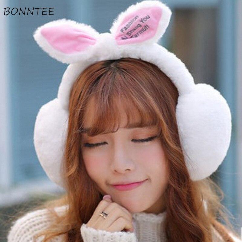 Earmuffs Women 2020 Winter Warm Soft Trendy Solid Kawaii Students Sweet Ladies Ear Warmers Cotton Classic Korean Style Chic