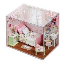 Симпатичный номер Кукольный дом деревянный кукольный домик миниатюрная 3D ручной работы кабина игрушки Куклы для детей Игрушечные лошадки подарок на день рождения
