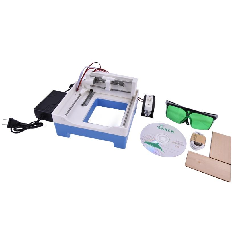 Nuova mini macchina per incisione laser Incisore laser fai-da-te - Attrezzature per la lavorazione del legno - Fotografia 2