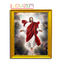 5D Diy Diamond Painting Jesus Embroiderey  Christ Religious Icon Rhombus Mosaic LUOVIZEM L060