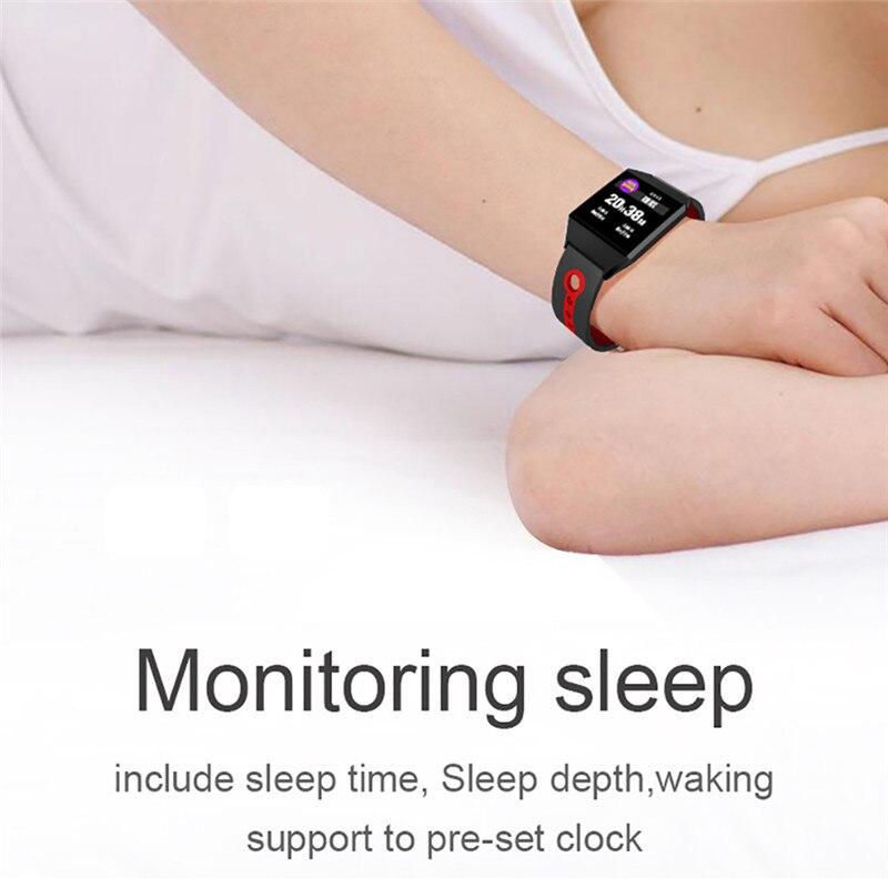 W1 Smart Bracelet Blood Pressure Measurement Color Screen Fitness Tracker Watch Waterproof IP68 Heart Rate Monitor GPS Tracker 7