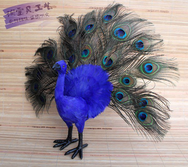 creative simulaiton peacock toy lifelike peacock model gift about 40x12x35cm creative simulaiton standing peacock toy polyethylene