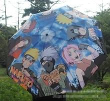 مظلة أنيمي ناروتو اوزوماكي ناروتو مطبوعة مع اوتشيها ساسوكي وهاتاكي كاكاشي اكسسوار تأثيري للهدايا