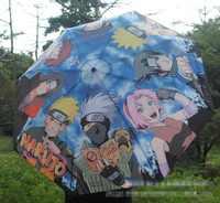 Anime Naruto Uzumaki Naruto Regenschirm Gedruckt Mit Uchiha Sasuke und Hatake Kakashi Cosplay Zubehör für Geschenk