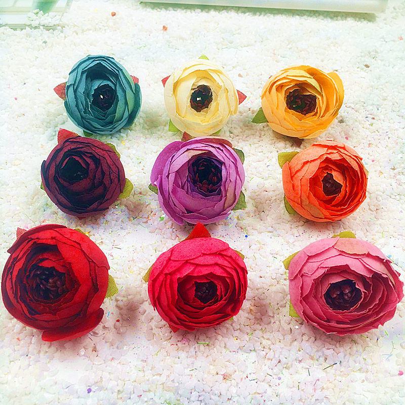 10 PCS (4 cm/flower) simulation artificial false retro camellia bract rose flower heads/wedding decoration DIY gift box collage