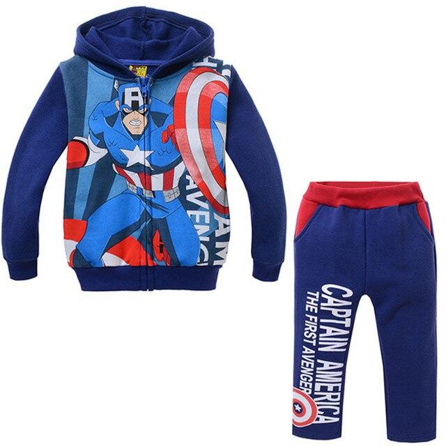 2016 Boys Clothes Cartoon Kids Sport Suits Cotton Tracksuits Hoodie Long Sleeve Jacket+Pant Children Clothing Set Spring/Autumn