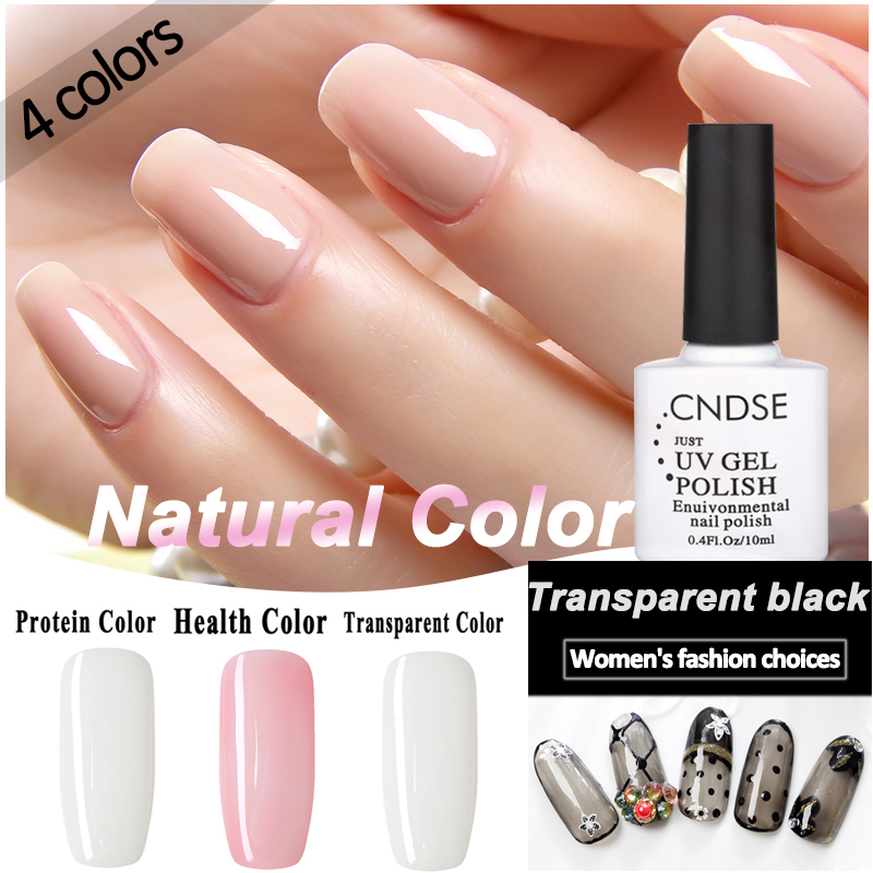 1 Bottle 10ml Nude color Gel Nail Polish Holographic Glitter Nail ...