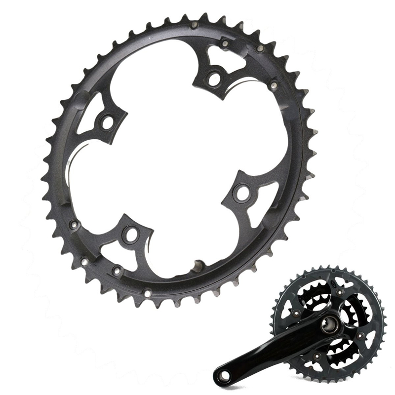 9 vitesses 44T manivelle en acier au carbone pédalier vélo anneau de chaîne vtt vélo de route chaîne pour Shimano SLX XT