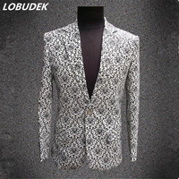 Male Formal Dress Suit Marriage Costume Plus Size Men S Clothing Suit Singer Show Nightclub Bar