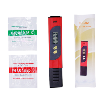 10pcs/lot Home PH Tester PH Meter  PH Value Test  digital LCD Pocket Pen Aquarium Water measurement with ATC  25%